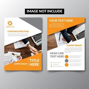 Folheto de negócios do design cover magazine