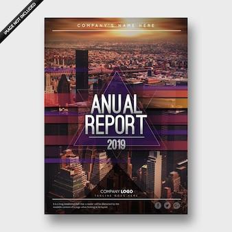 Folheto de negócios do relatório anual 2019