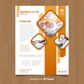 Folheto de negócios fotográfico