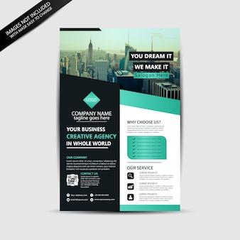 Folheto de negócios imobiliários