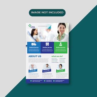 Folheto de negócios médicos