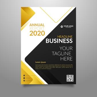 Folheto de negócios modelo abstrato