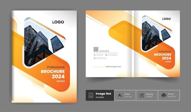 Folheto de negócios modelo de design colorido tema moderno perfil da empresa apresentação da página de rosto