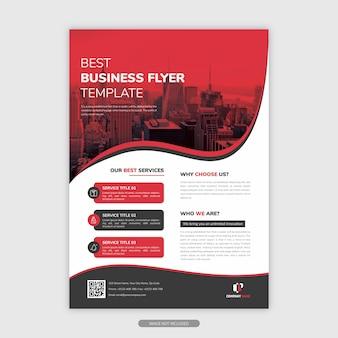 Folheto de negócios modernos em forma de ondulado