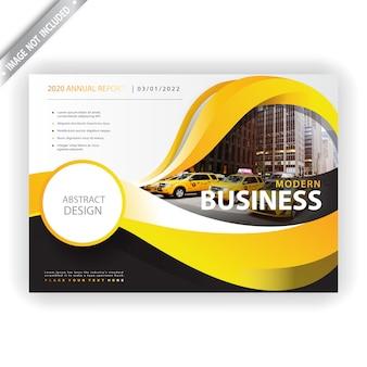 Folheto de negócios ondulado elegante 2020
