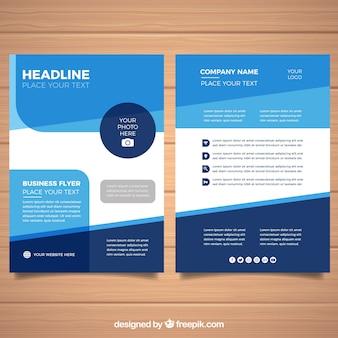 Folheto de negócios plana