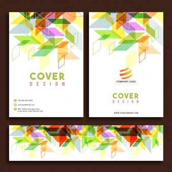 Folheto de negócios, relatório anual e design de capa.