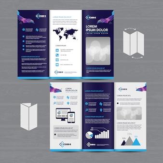 Folheto de negócios tri fold folheto flyer