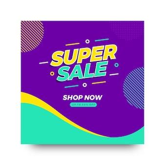 Folheto de oferta criativa de super venda
