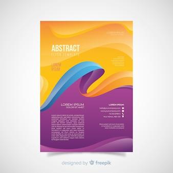 Folheto de ondas abstratas