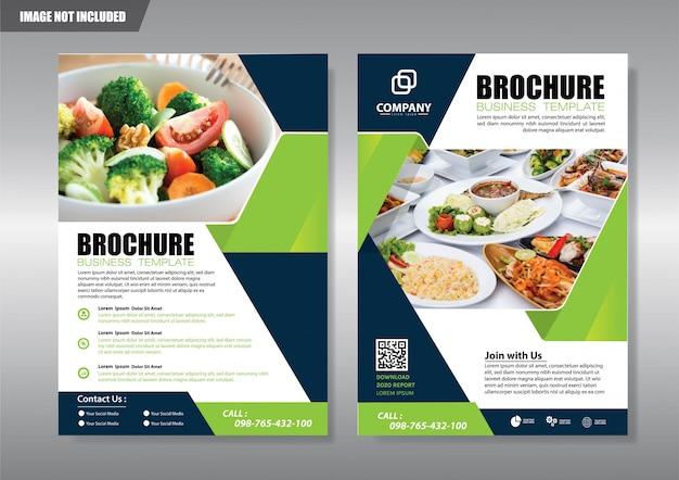 Folheto de panfleto de capa ou folheto relatório anual de fundo