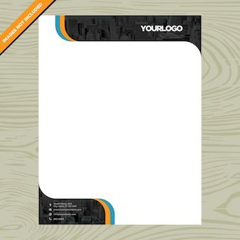 Folheto de papel branco com logotipo