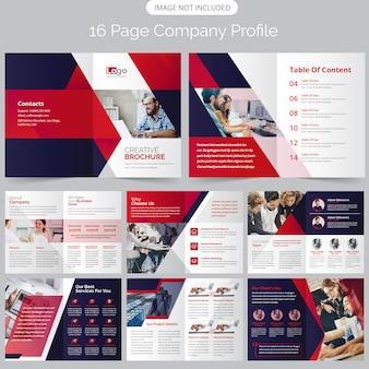 Folheto de perfil da empresa de 16 páginas