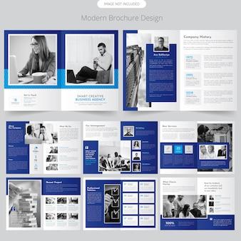 Folheto de perfil de empresa de página