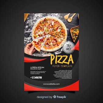 Folheto de pizza fotográfica
