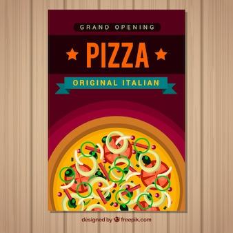Folheto de pizza italiana