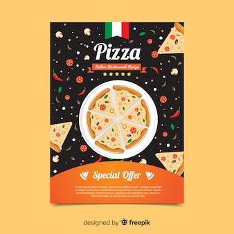 Folheto de pizza simples