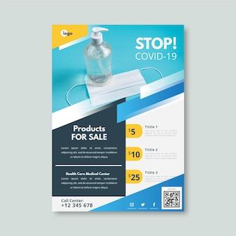 Folheto de produtos médicos do coronavirus Vetor grátis