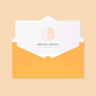 Folheto de propaganda sobre saúde mental
