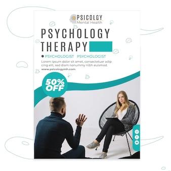 Folheto de psicologia vertical