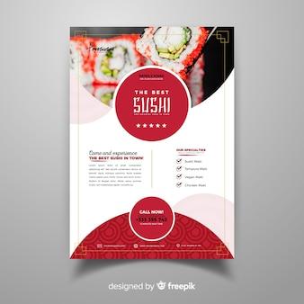 Folheto de restaurante chinês fotográfico
