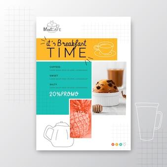 Folheto de restaurante de café da manhã v