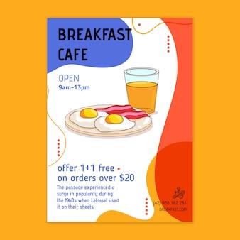 Folheto de restaurante de café da manhã