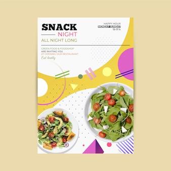Folheto de restaurante de comida saudável