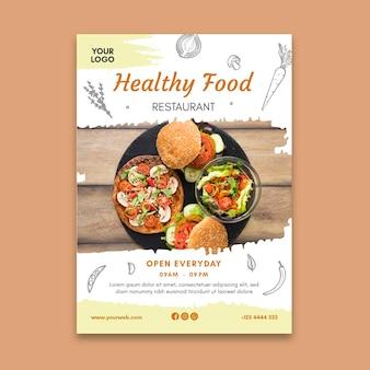 Folheto de restaurante saudável