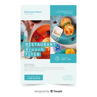 Folheto de restaurante
