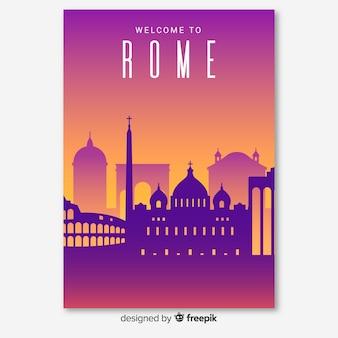 Folheto de roma