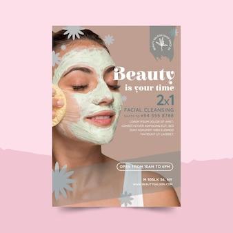 Folheto de salão de beleza e saúde