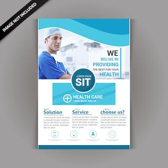 Folheto de saúde e médico