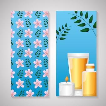 Folheto de spa bonito ou cartão de rack