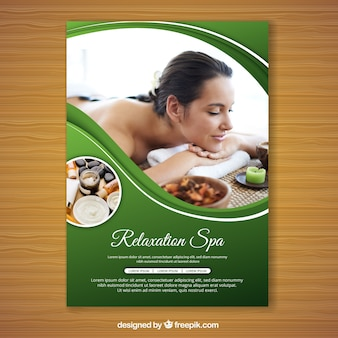 Folheto de spa com uma foto