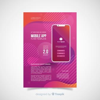 Folheto de telefone celular plana