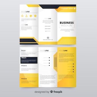 Folheto de três dobras de negócios