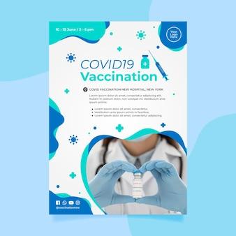 Folheto de vacinação contra o coronavírus