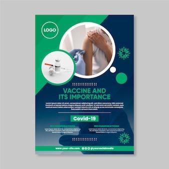 Folheto de vacinação de coronavírus de design plano