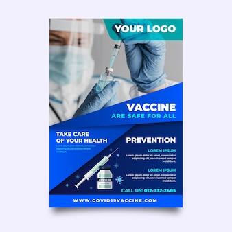 Folheto de vacinação de coronavírus gradiente