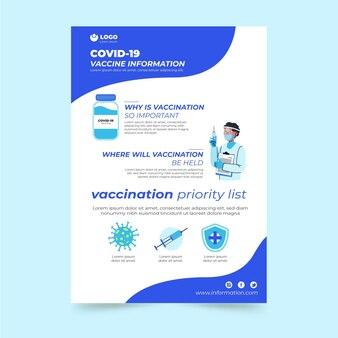Folheto de vacinação de coronavírus plano orgânico