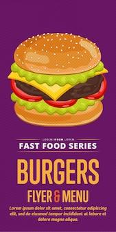 Folheto de venda de cheeseburger