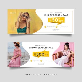 Folheto de venda de moda
