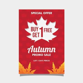 Folheto de venda de outono
