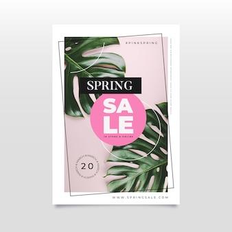 Folheto de venda de primavera plana