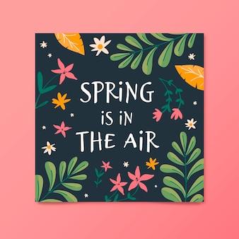 Folheto de venda de primavera