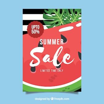 Folheto de venda de verão