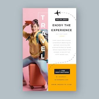 Folheto de venda de viagens abstrato
