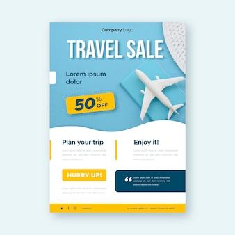 Folheto de venda de viagens com imagem