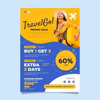 Folheto de venda de viagens